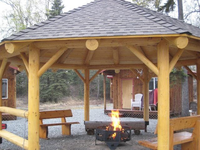 Plans For Pergolas Free Gazebo Plans With Firepit